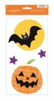 Holiday Home® Halloween Bat and Pumpkin Gel Window Clings
