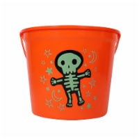 Holiday Home™ Glow Skeleton Treat Bucket