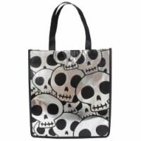 Holiday Home® Reflective Treat Bag - Siver Skulls