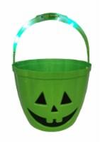 Holiday Home® LED Treat Bucket - Green