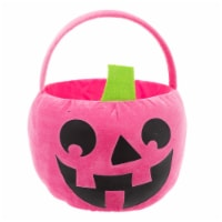 Holiday Home Fabric Monster Treat Bucket - Pink