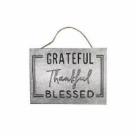 Holiday Home® Grateful Galvanized Sign - Silver