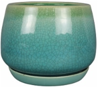 Everyday Living® Dripping Geo Bell Planter - Green/Blue
