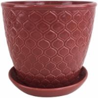 The Joy of Gardening® Ventura Planter - Red