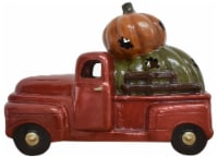 Earth Accents Truck and Pumpkin Statue