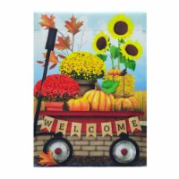 Holiday Home® Welcome Fall Wagon Suede Garden Flag