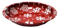 Holiday Home® Shallow Snowflake Tin Serving Platter - Red