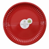 HDO RecycledPaper Plate Style Dinner Plates - Red