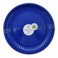 HDO Recycled Paper Plate Style Dinner Plates - Blue