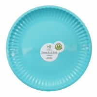 HDO Recycled Paper Plate Style Dinner Plates - Aqua