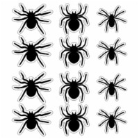 Holiday Home Giant Garage Door Silhouette Spiders Decor - Black