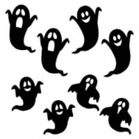 Holiday Home Giant Garage Door Silhouette Ghosts Decor - Black