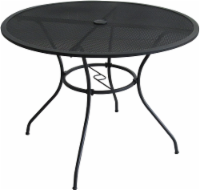 HD Designs Outdoors Taylor Round Mesh Top Dining Table - Black