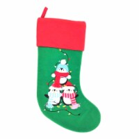 Holiday Home® Stacked Penquin Stocking