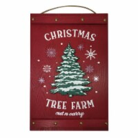 Holiday Home® Christmas Tree Farm Sign - Red