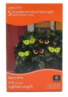 Holiday Home® 5 Incandescent Ghost Eyes Lights - Green/Purple - 4 ft