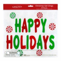 Holiday Home® Happy Holidays Gel Cling 19 Piece