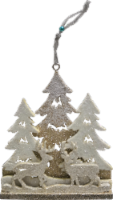 Holiday Home® Carved Wood Scene Ornament