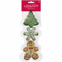 Holiday Home™ Cookie Cutter Set - Green/White/Red