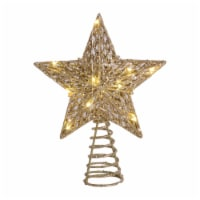 Holiday Home® LED Star Tree Topper - Gold