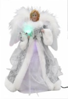 Holiday Home® Fiber Optic Angel Tree Topper - Silver