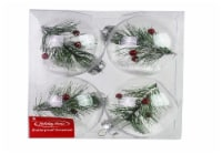 Holiday Home® Shatterproof Ornament with Greenery 4 Pack