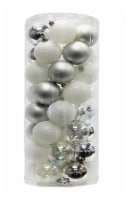 Holiday Home® Shatterproof Ornaments - Silver/White