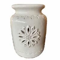 Holiday Home® Large Snowflake Luminary Jar - White
