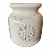 Holiday Home® Small Snowflake Luminary Jar - White