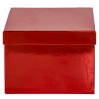 Holiday Home® Large Square Metallic Gift Box