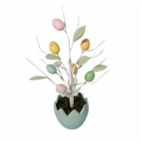 Holiday Home Egg Pot with Egg Tree - Teal