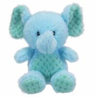 Holiday Home Plush Sitting Elephant - Blue