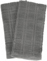 Everyday Living® Solid Waffle Kitchen Towels - Charcoal