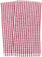 Everyday Living® Mini Woven Check Kitchen Towels - Red/White