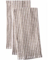 Everyday Living® Coordinate Woven Kitchen Towel Set - Light Gray/White