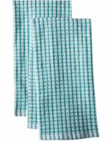 Everyday Living® Coordinate Woven Kitchen Towel Set - Teal/White