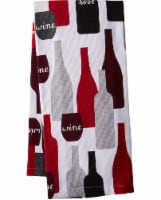 Everyday Living Kitchen Towel - Wine Bottle Print