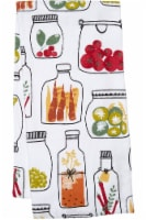 Everyday Living® Veggie Jars Print Kitchen Towel - White
