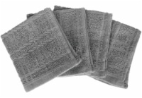 Everyday Living Solid Dish Cloths - Charcoal
