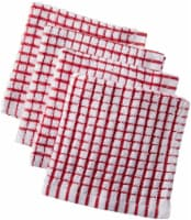 Everyday Living® Coordinate Woven Dishcloth Set - Red/White
