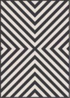 HD Designs Outdoors Cape Rose Rug - Black/White