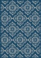 HD Designs Outdoors Iris Quartyard Rug - Blue/White