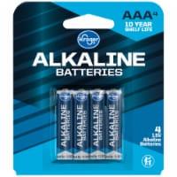 Kroger® AAA Alkaline Batteries - 4 pk