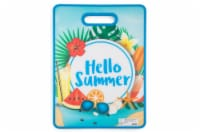 HD Designs Outdoors Hello Summer Poly Board - Blue/Green/Red