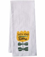 Dash of That™ Let's Stay Home Flour Sack Towel - White