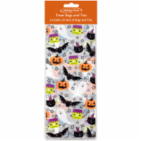 Holiday Home Treat Bags and Ties - 20 Pack - 9.5 x 4 in