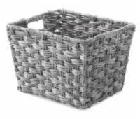 Everyday Living Small Split Rattique Shelf Tote - Gray Wash