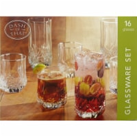 Dash of That Belmont Glassware Set - Clear - 16 pc