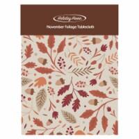 Holiday Home November Foliage Vinyl Tablecloth - 1 ct