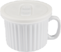 Dash of That Ceramic Soup Mug with Lid - White